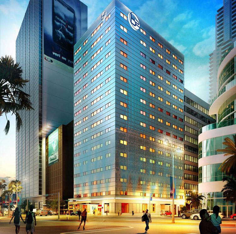 b2 hotel miami downtown. Black Bedroom Furniture Sets. Home Design Ideas