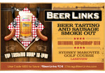 Beer Links Chicago (Beer Tasting with Sausage Smoke Out!)