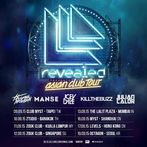 revealed asia tour