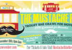 The Moustache Ride - Movember Trolley Bar Crawl Chicago