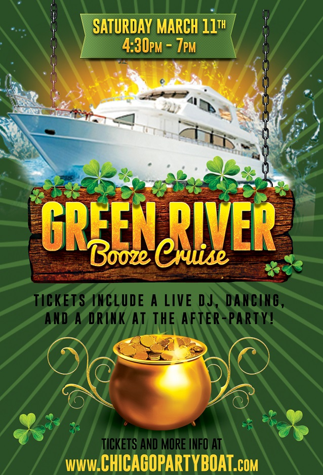 Green River Booze Cruise On March 11th 2017 Chicago Il